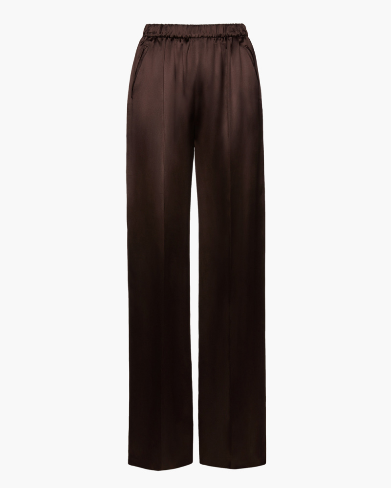 SILK AND VISCOSE TROUSERS