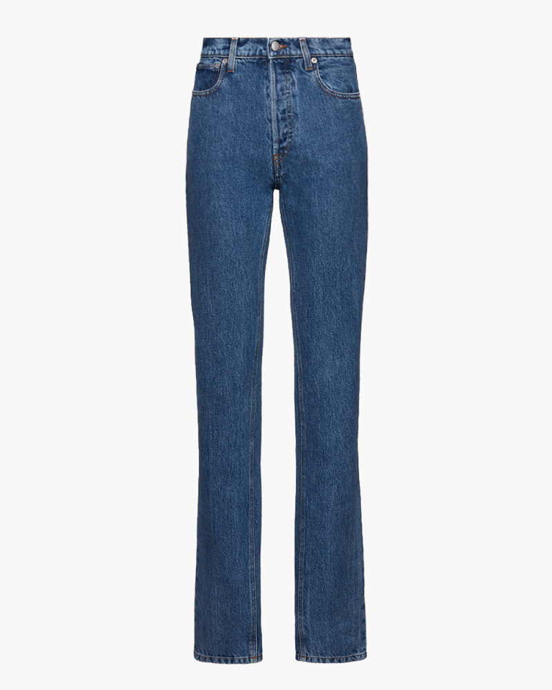 SLIM LEG FLARED DENIM