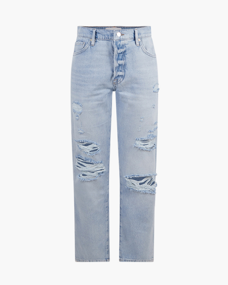 LE SLOUCH RIPPED JEANS