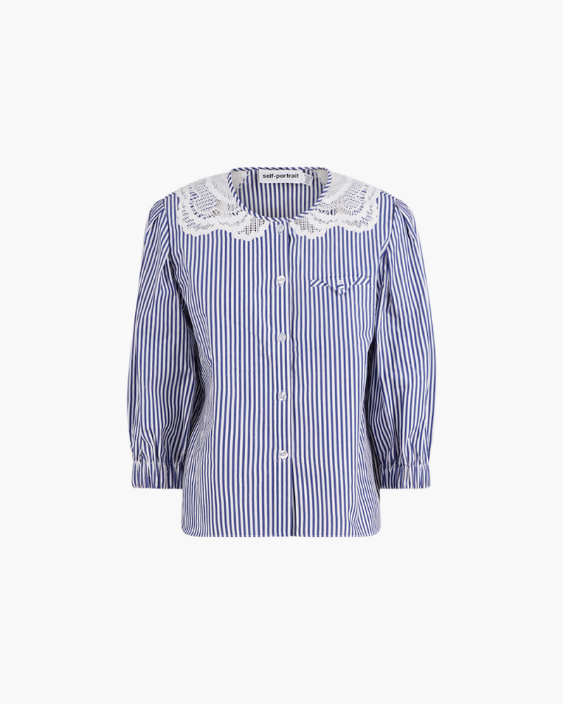 EMBROIDERED STRIPE COTTON TOP