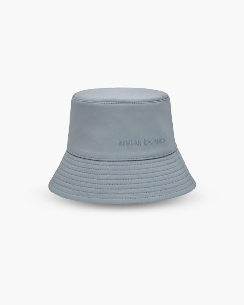 GREY LAMPSHADE BUCKET HAT