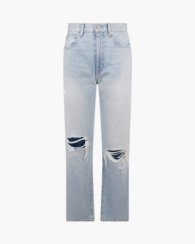 RIPPED LONDON ANKLE JEANS