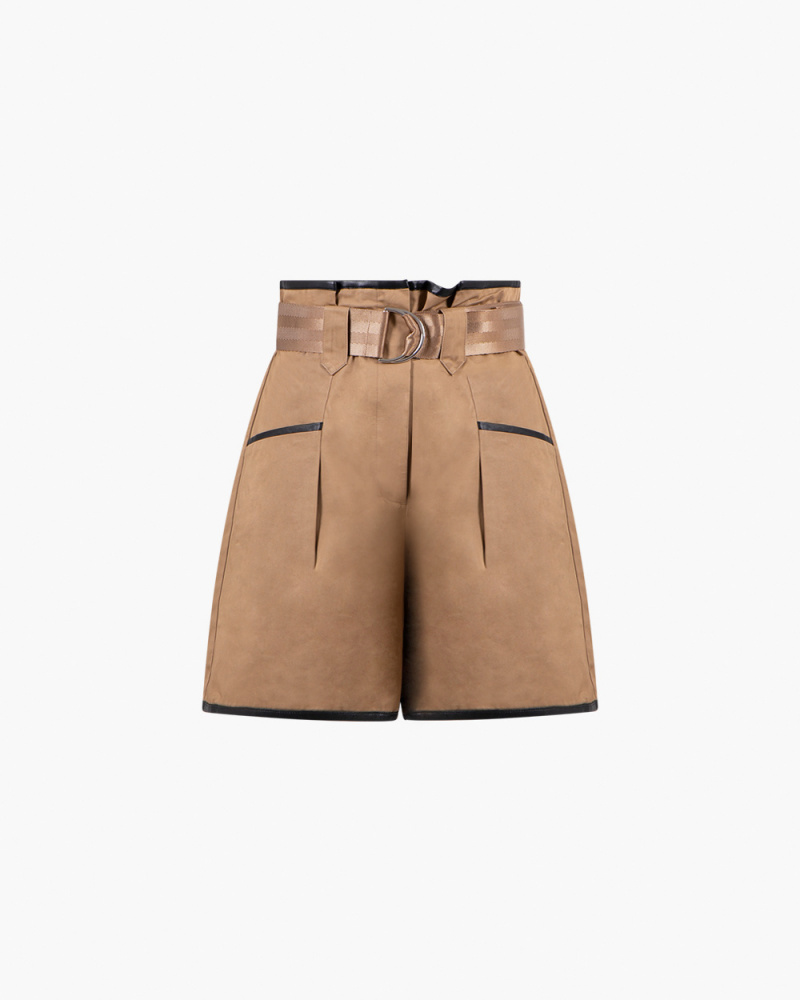 SHORTS PAPER BAG IN COTONE