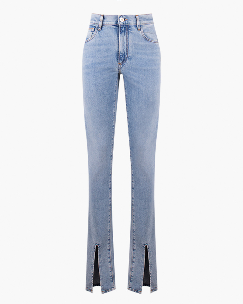 JEANS WITH ANKLE SLIT