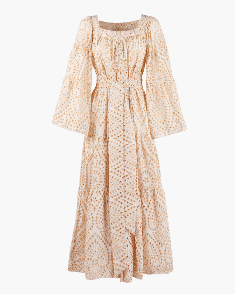 BRODERIE LACE MIDI DRESS