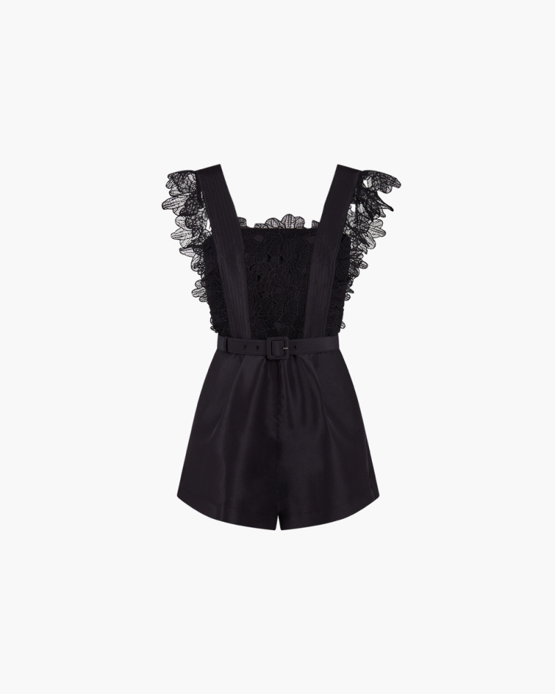 PLAYSUIT IN PIZZO GUIPURE