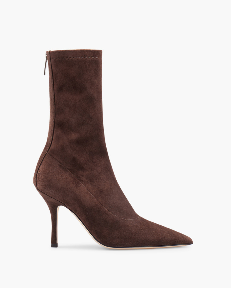 SUEDE MAMA ANKLE BOOTIES