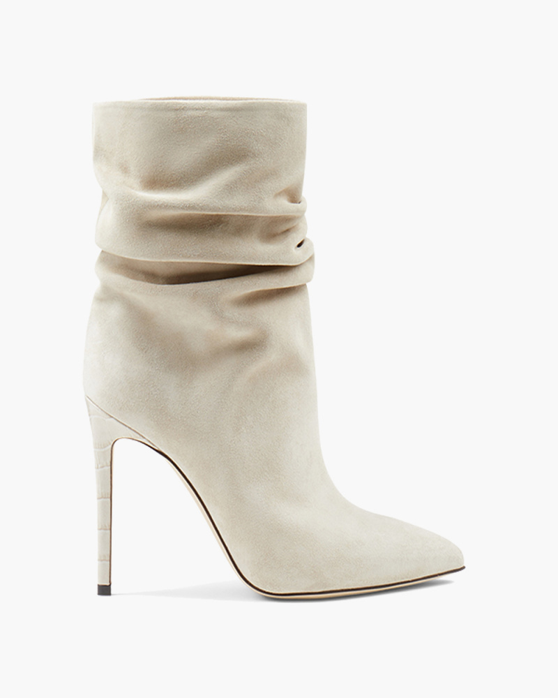 STIVALETTO SLOUCHY IN SUEDE