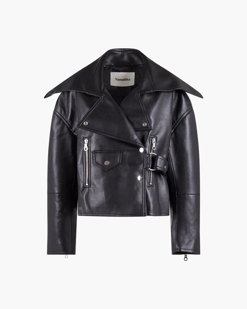 Regenerated leather jacket