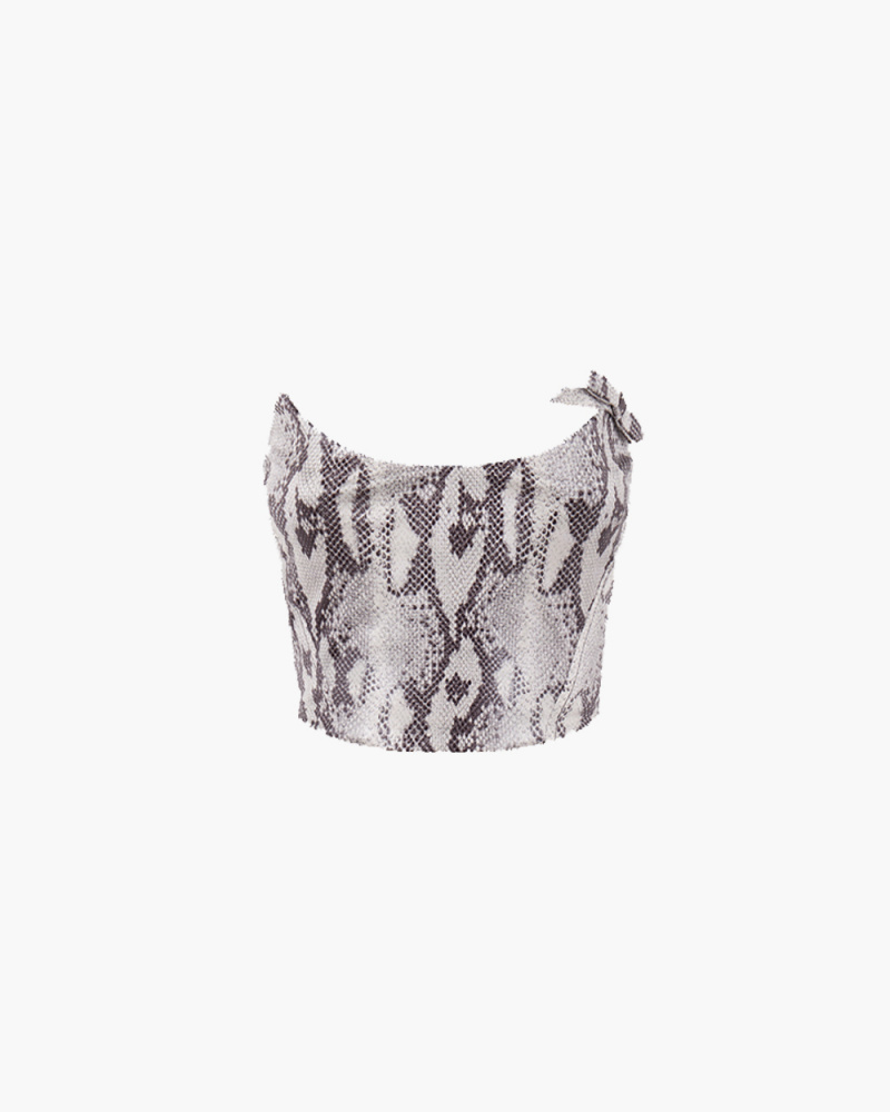 TOP BUSTIER STAMPA SNAKE