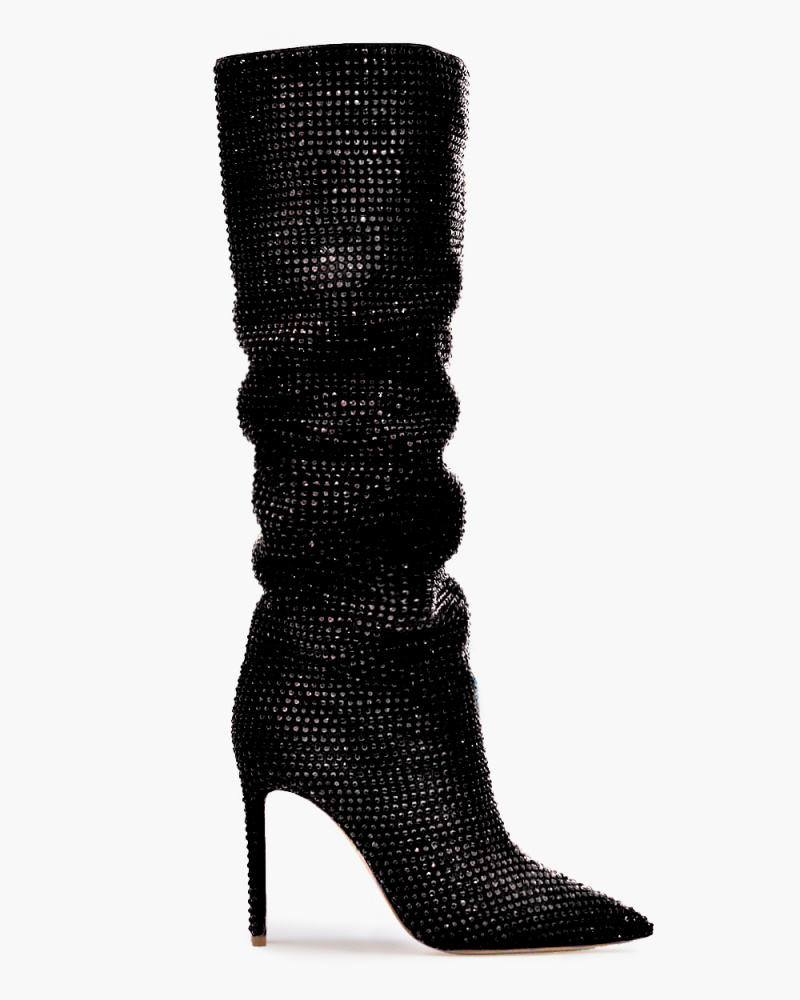 HOLLY BOOTS WITH CRYSTALS