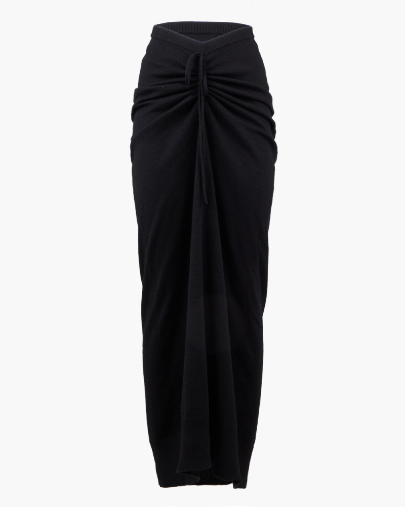 ELONGATED RUCHED TIE SKIRT