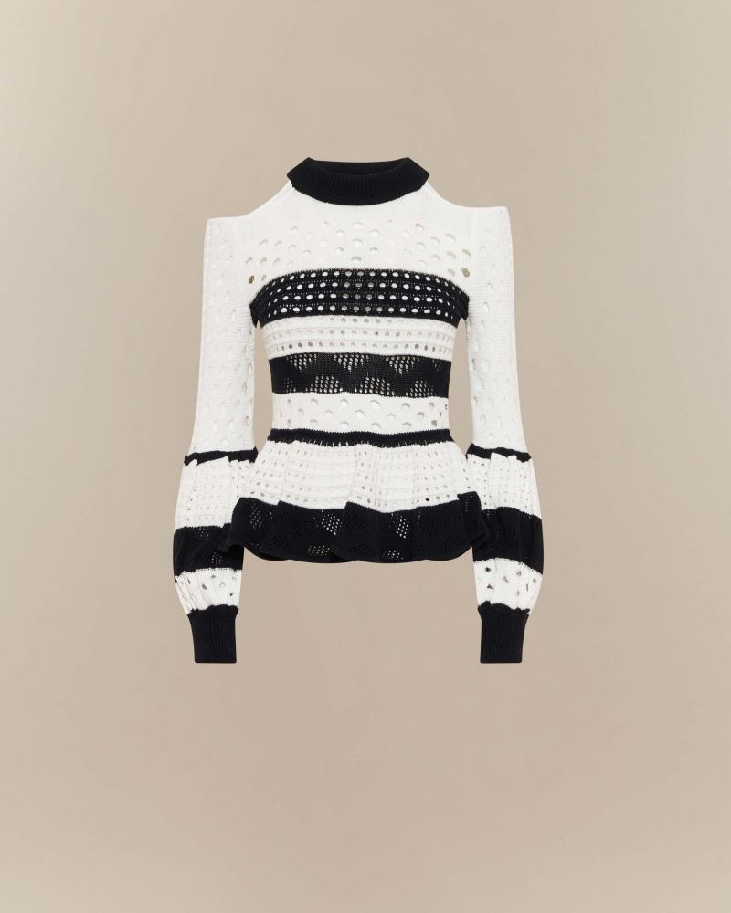 STIPED KNIT TOP