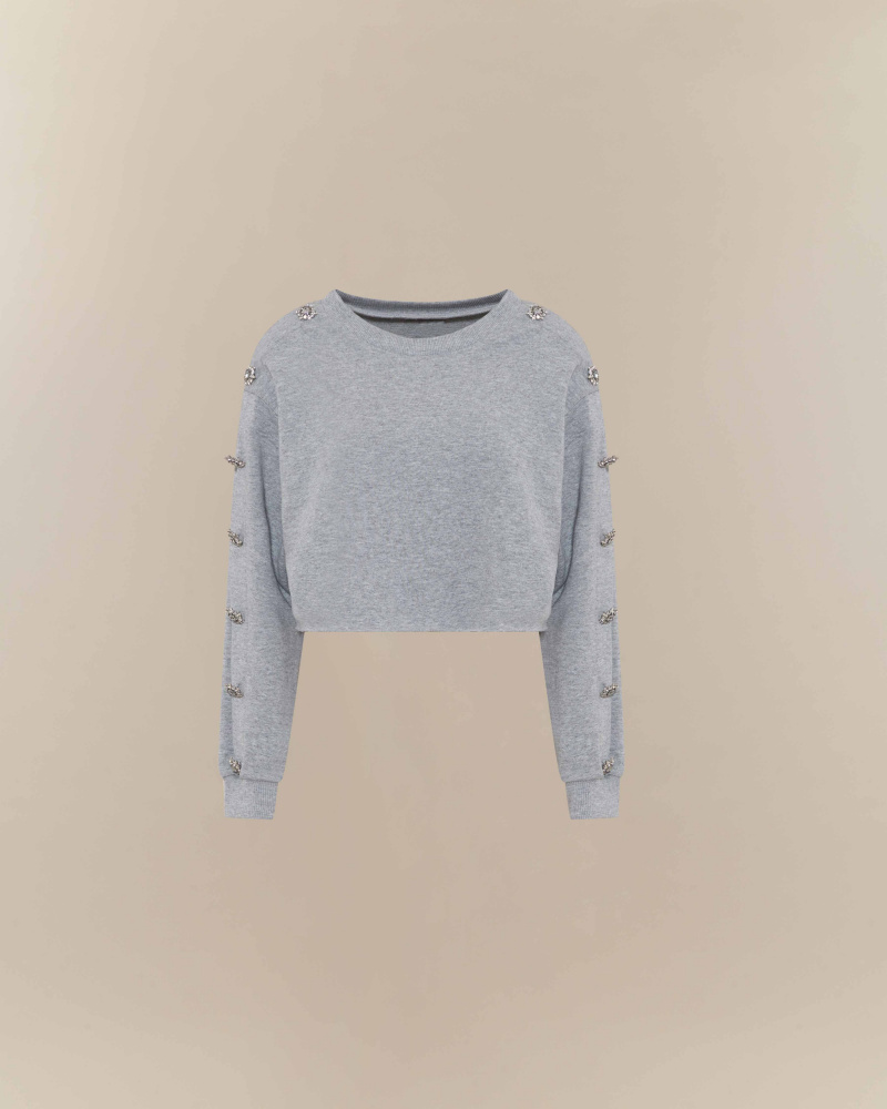 CROPPED SWEATSHIRT WITH...