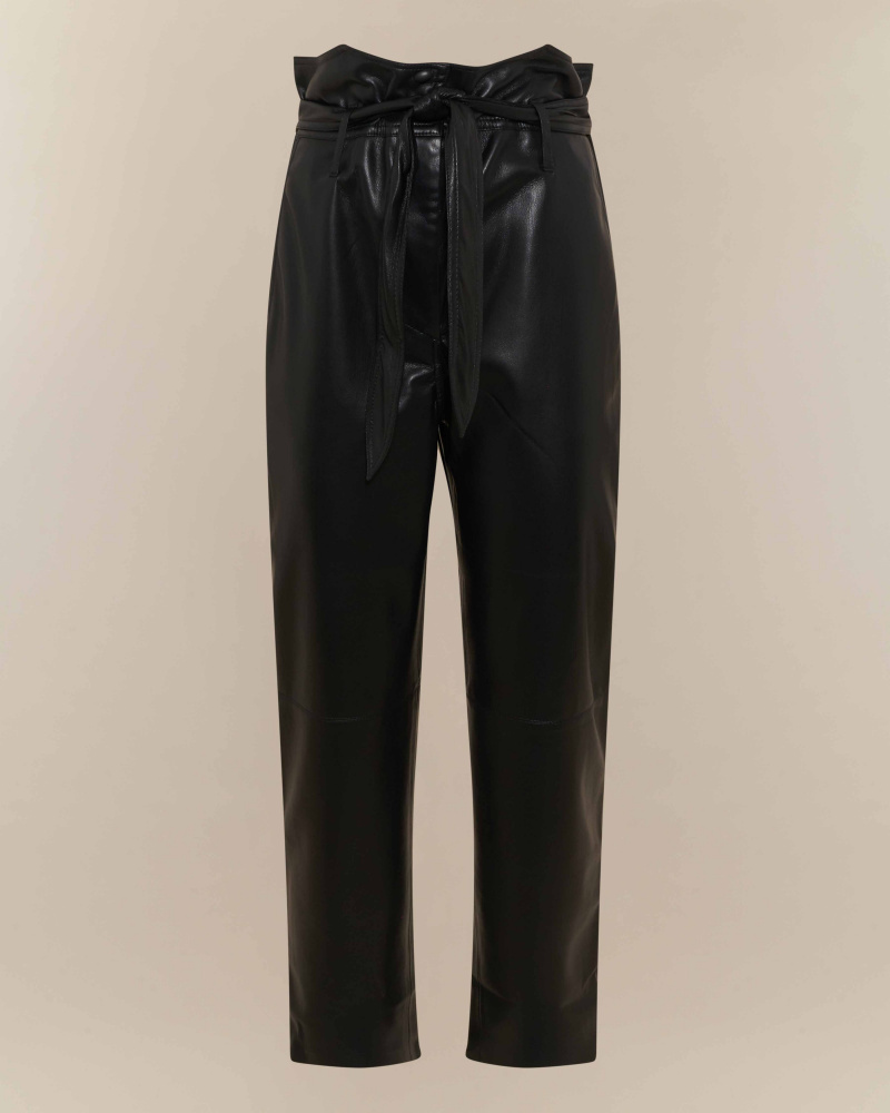 VEGAN LEATHER CIGARETTE PANTS