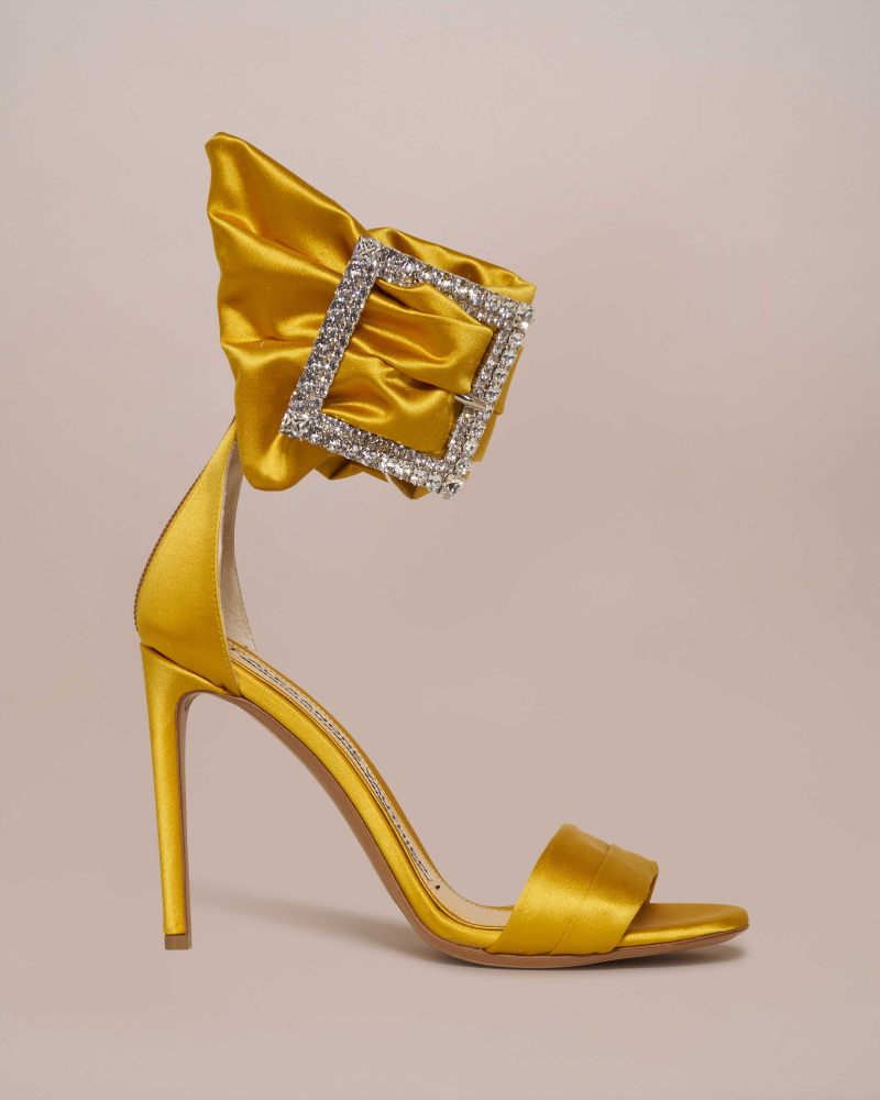 SATIN SANDALS WITH SWAROSKY...