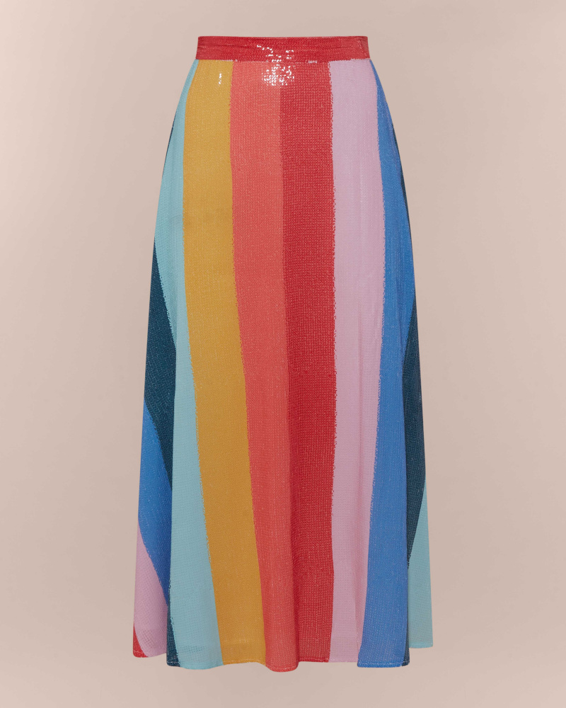 RAINBOW STRIPES SEQUIN MIDI...