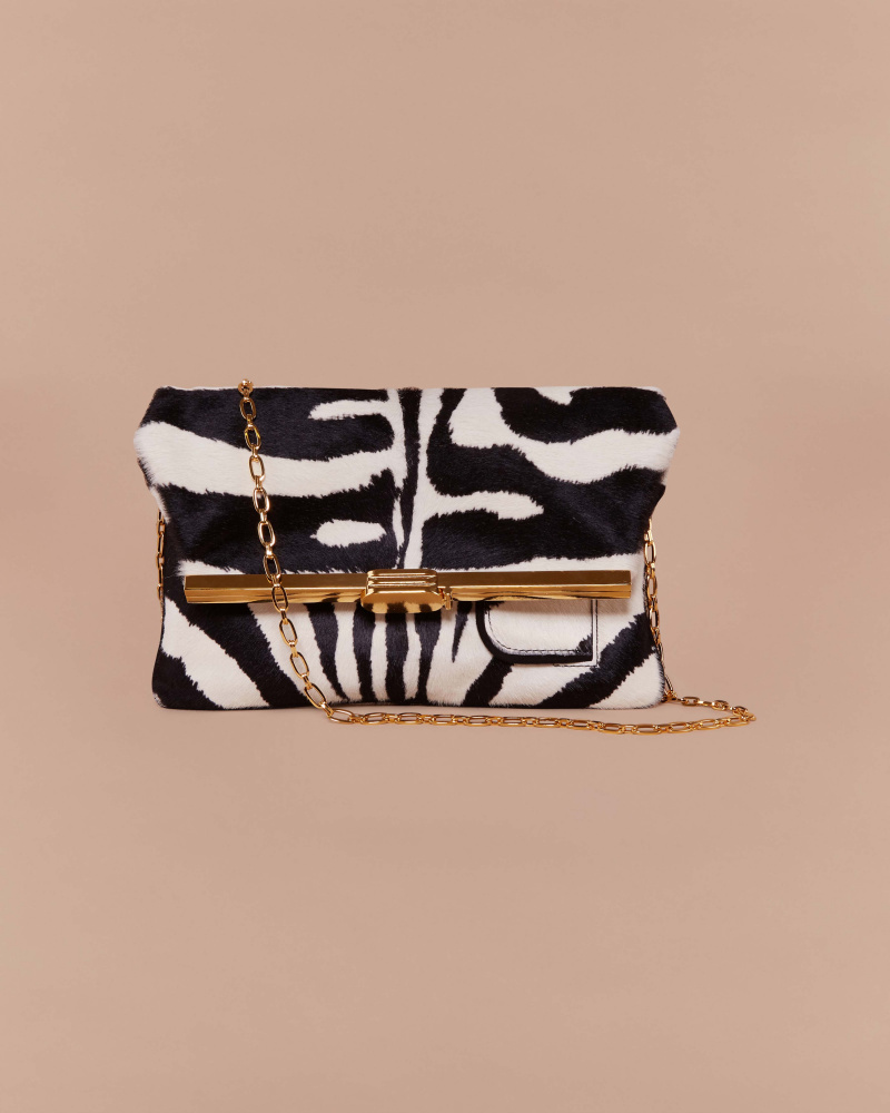 ZEBRA PONY SKIN CLUTCH