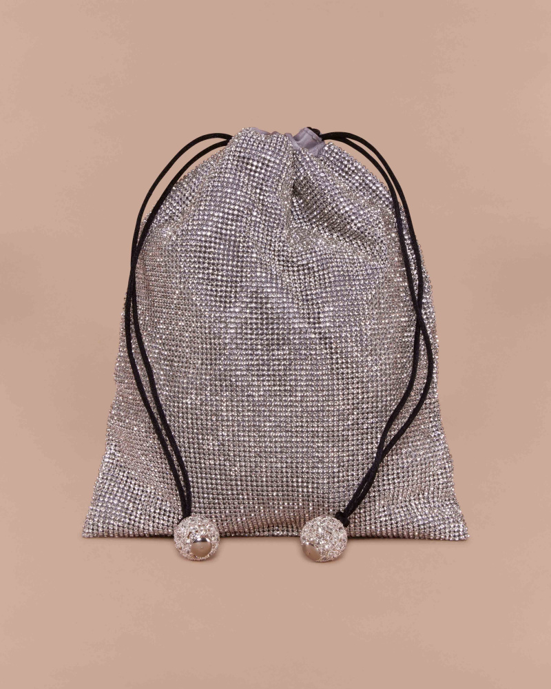 POUCH WITH CRYSTALS