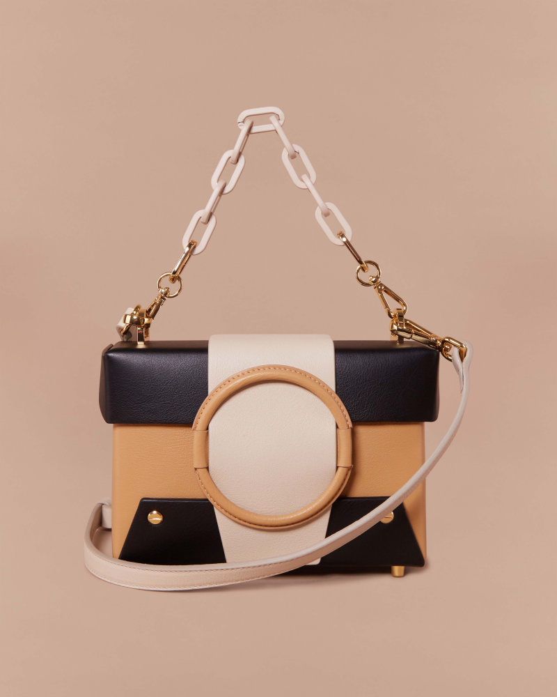 COLOR-BLOCK SHOULDER BAG