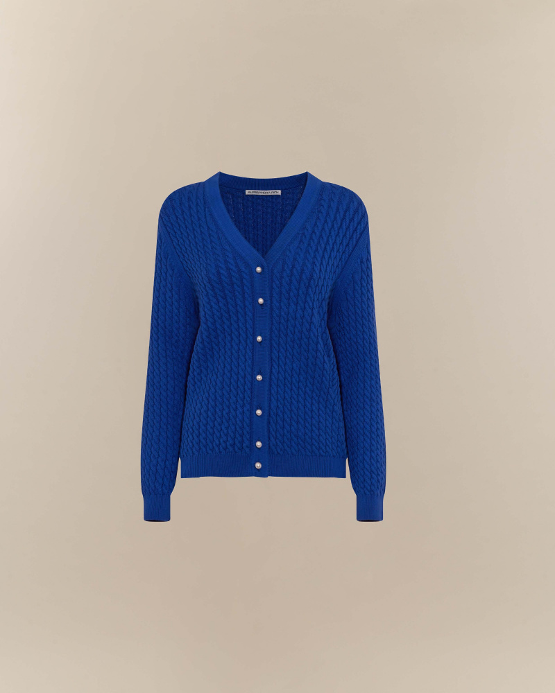 KNITTED CARDIGAN WITH PEARL...