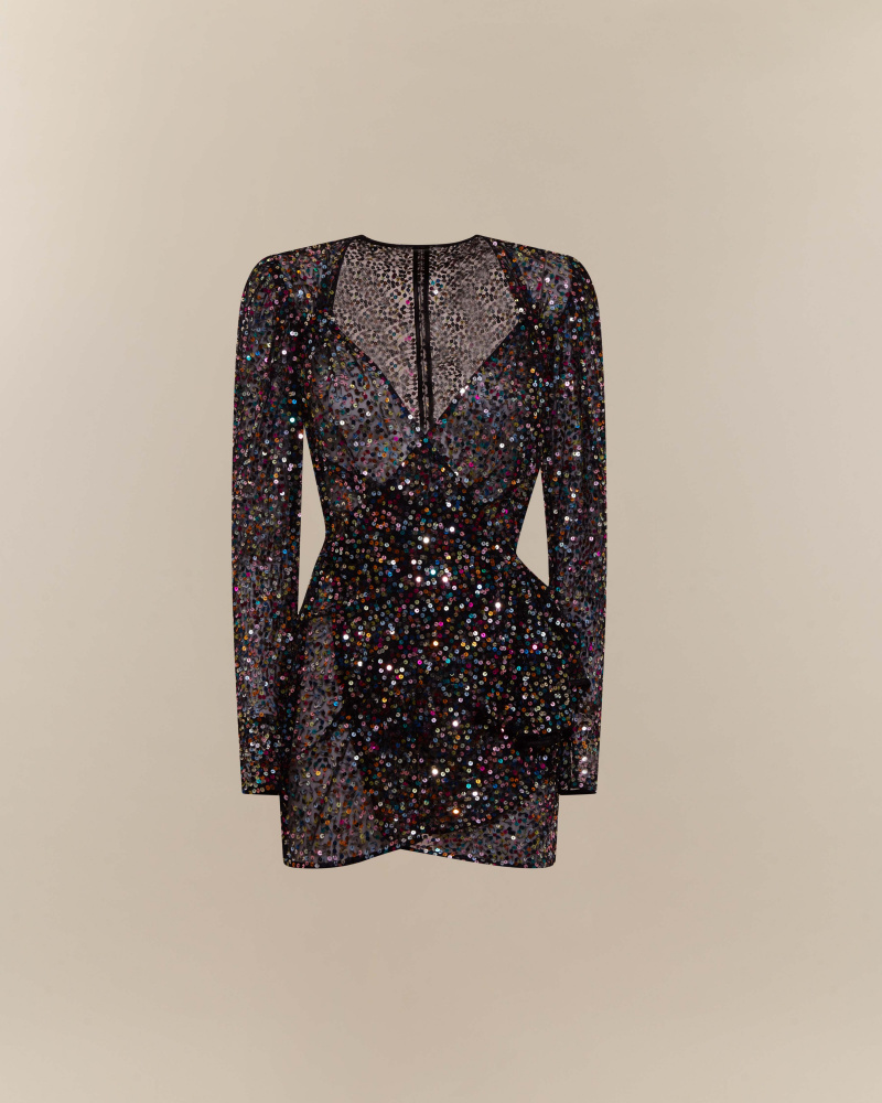 MULTICOLOR SEQUINS RESS
