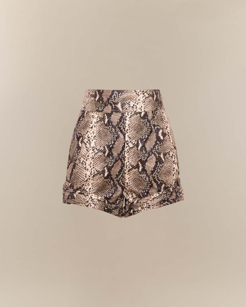 Shorts con stampa pitone